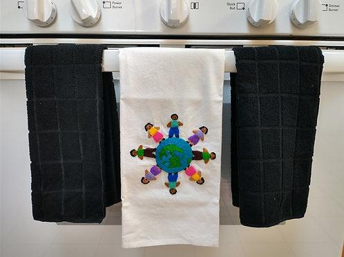 Circling the World Dish Towel