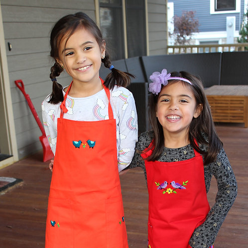 Embroidered Apron for Kids