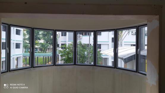 Semi-Curved Casement Window @ Balcony