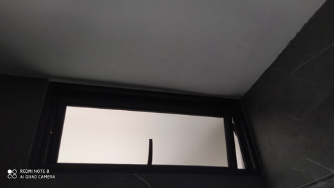 Hung Window c/w Frosted Glass