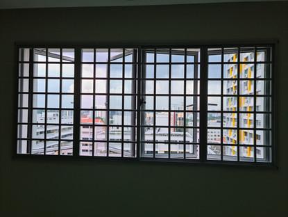 Casement Window c/w Square Grille