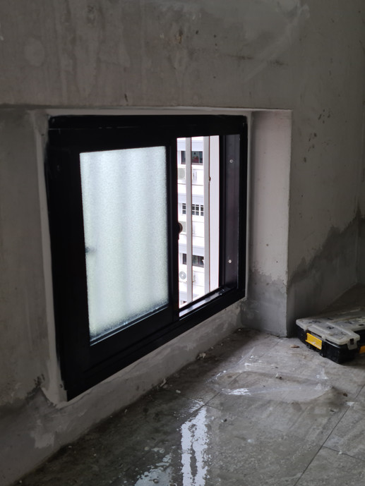 Sliding Window (Small Panel @ Service Yard)