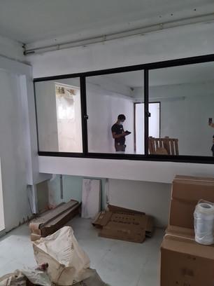 Sliding Window using Mirror as Glass