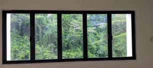 Black Frame Casement Window c/w Clear Glass