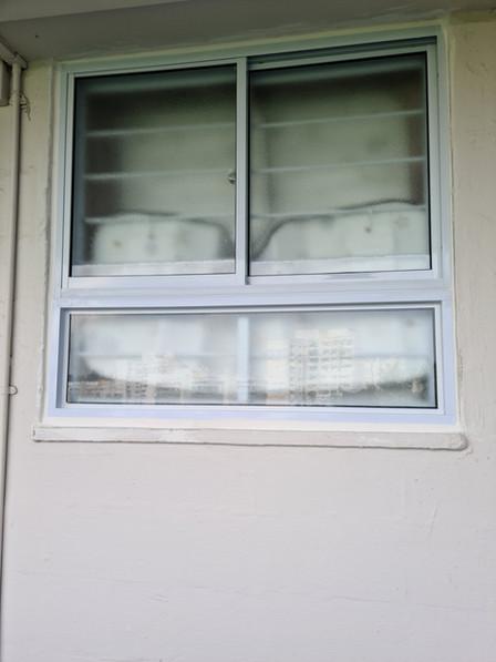 Bottom Fixed Panel c/w Top Sliding Window along Corridor