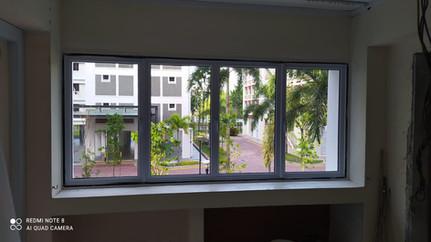White Powder Coated Casement Window