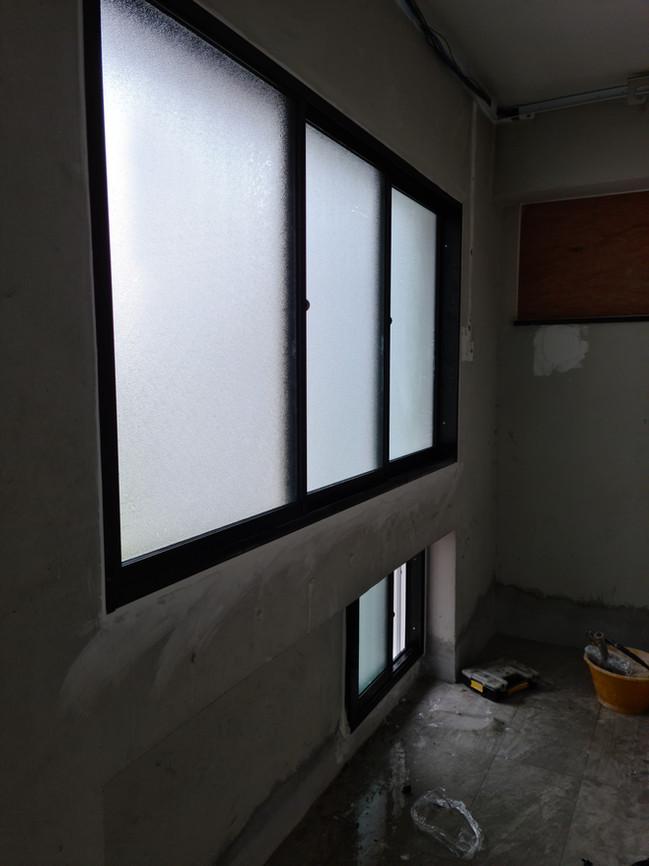 Black Anodized Sliding Window