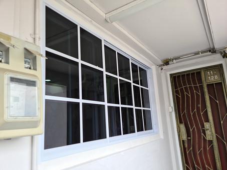 Lattice Design Casement Window c/w Matching Grille