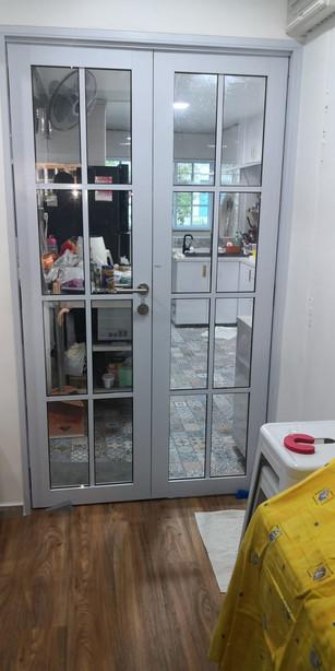 Lattice Casement Glass Door
