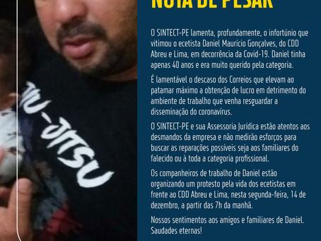 Nota de pesar: DANIEL MAURÍCIO GONÇALVES