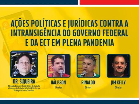 Live sobre ações política e jurídicas na terça-feira, 30 de março