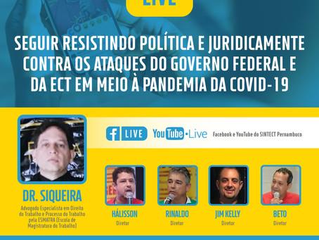 SINTECT-PE organiza live com jurídico do sindicato