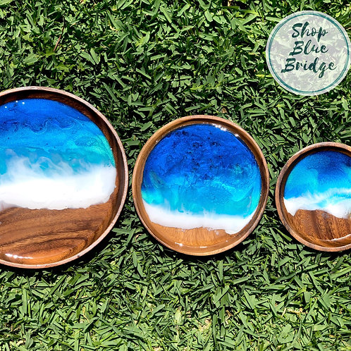 The Beach - Wooden Nesting plates