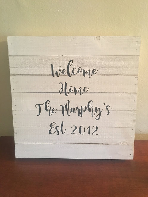The Welcome Home - Square Wooden Wall Decor