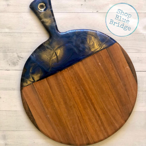 The Navy - Large Round Charcuterie Board