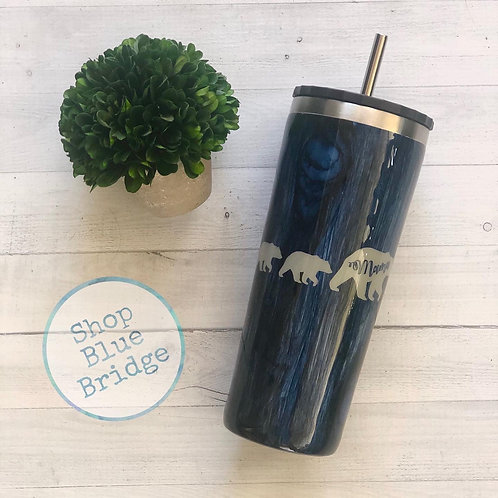 The Momma Bear and cubs - 24 oz Middle Straw