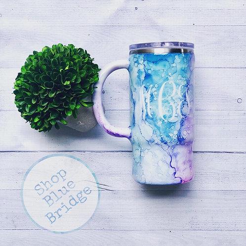 The Rainbow Marble - 16 oz Travel Mug