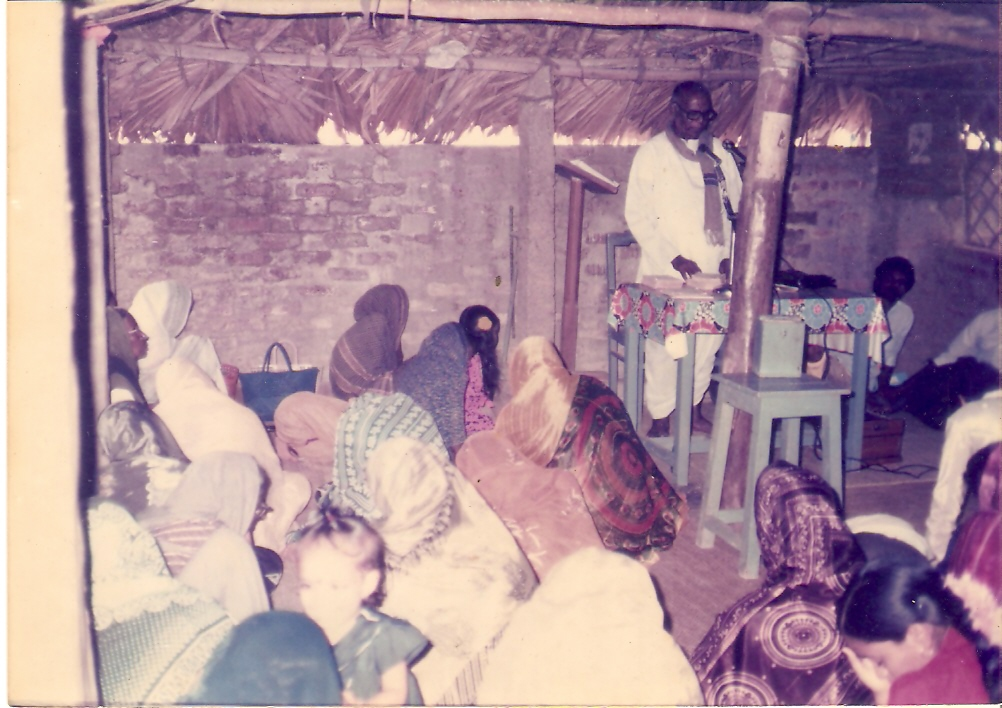 Worship Service in 1950's