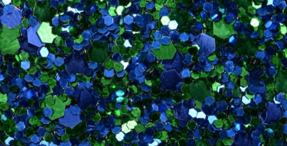 BLUE/GREEN MIX 'GLAM' GLITTER WALL COVERING