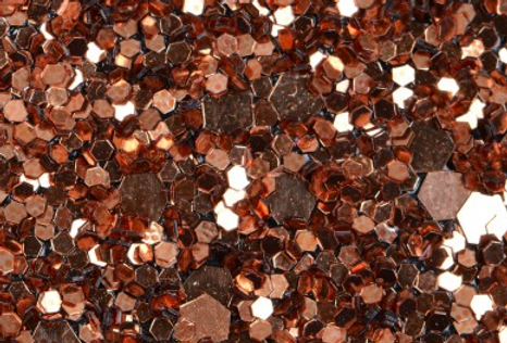 COPPER 'GLAM' GLITTER WALL COVERING