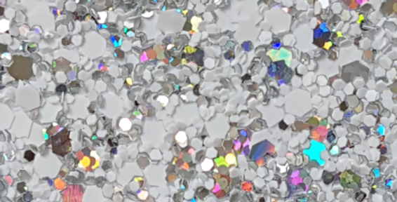 WHITE/SILVER HOLOGRAM 'GLAM' GLITTER WALL COVERING