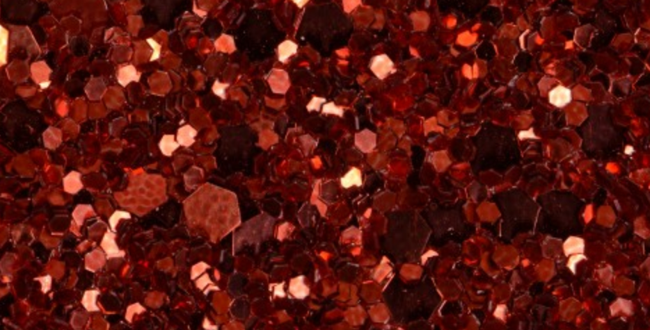 POPPY RED 'GLAM' GLITTER WALL COVERING