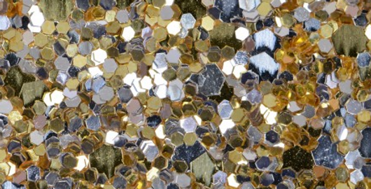 PRECIOUS METAL GOLD/SILVER MIX 'GLAM' GLITTER WALL COVERING