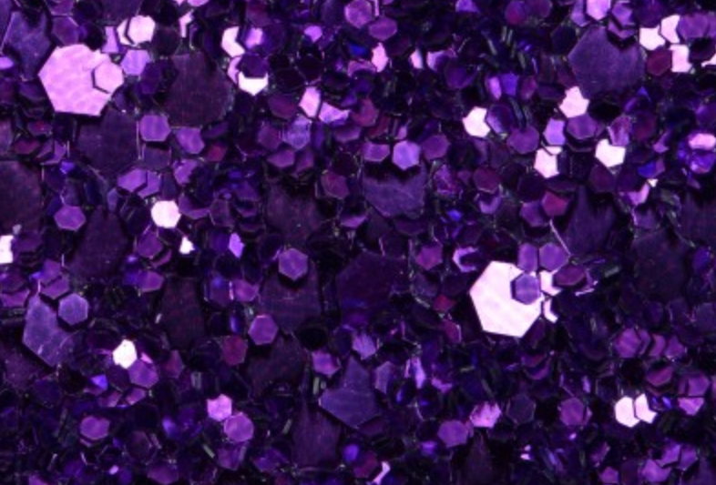 PURPLE 'GLAM' GLITTER WALL COVERING