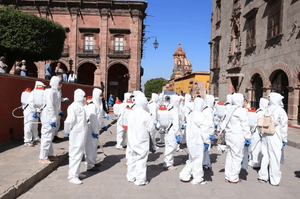 Sanitizing of San Miguel de Allende by the Municipal Government