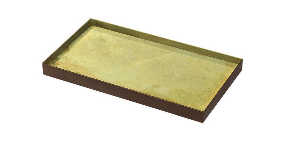 Notre Monde Plateau Gold Leaf glass M