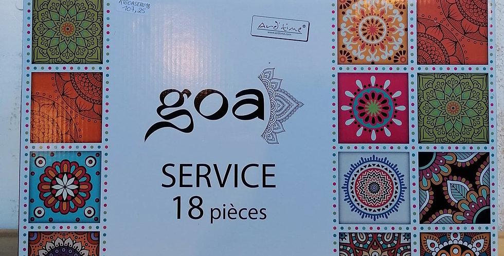 """Service """"GOA""""  18 pièces"""