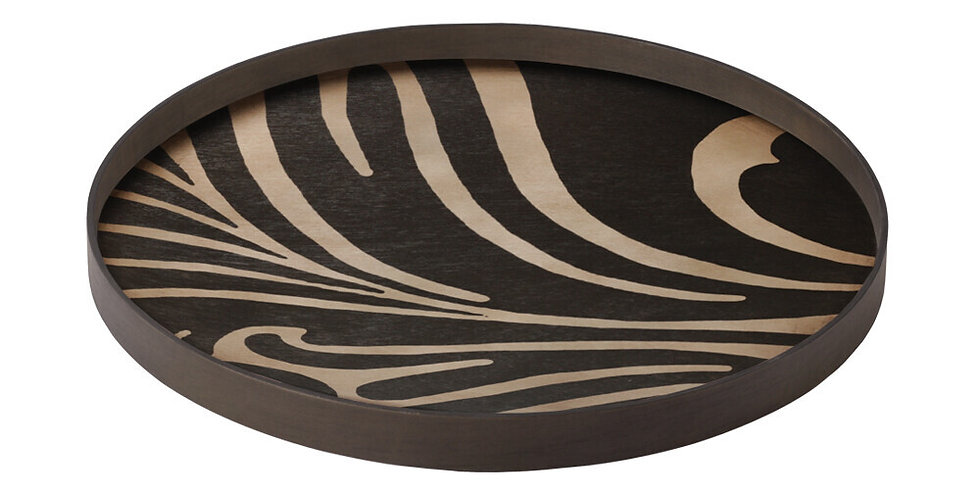Notre Monde Plateau Folk wooden tray L