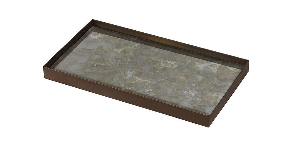 Notre Monde Plateau Fossil Organic glass