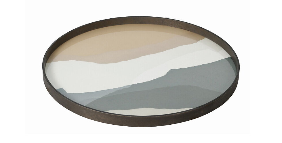 Notre Monde Plateau Slate Wabi Sabi glass L