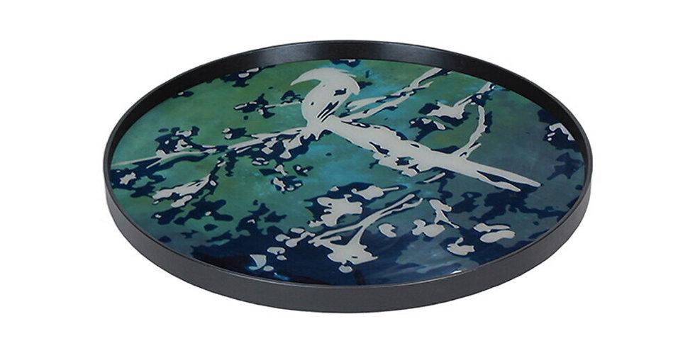 Notre Monde Plateau Birds of paradise glass - L