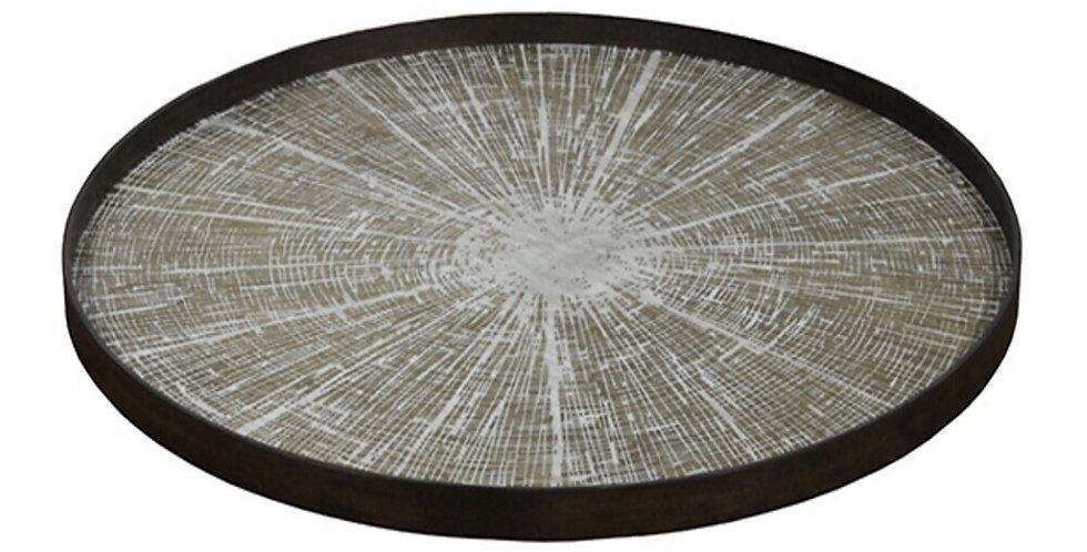 Notre Monde Plateau White Slice wooden XL
