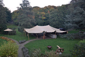top view tent