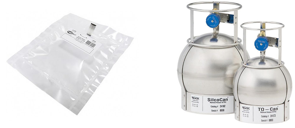 Tedlar bags and passivated canisters