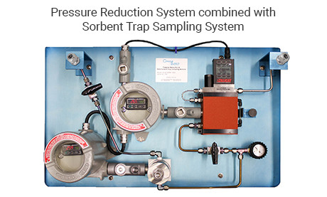 Pressure Reduction System combined with Sorbent Trap Sampling System