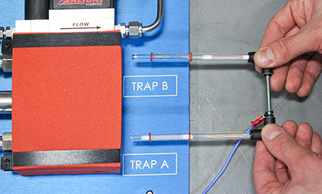 Inserting Sorbent Traps into the Natural Gas Sorbent Trap Sampling System