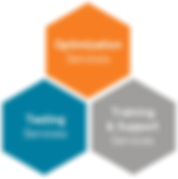 Hexagonal infograhic featuring laboratory consulting services