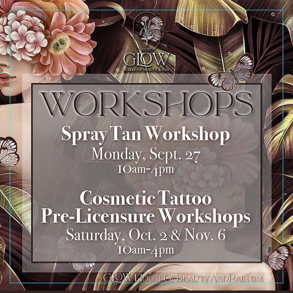 Workshops at Glow