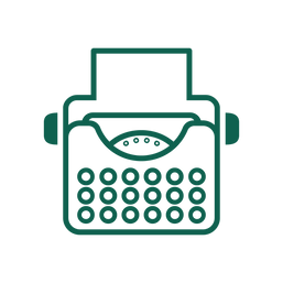 An icon of a typewriter, representing Arthur's preferred lunch.