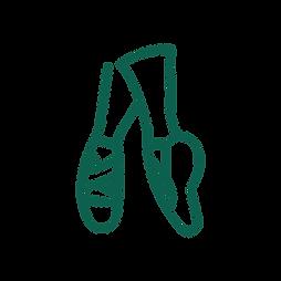 An icon of a pair of ballerina's feet.
