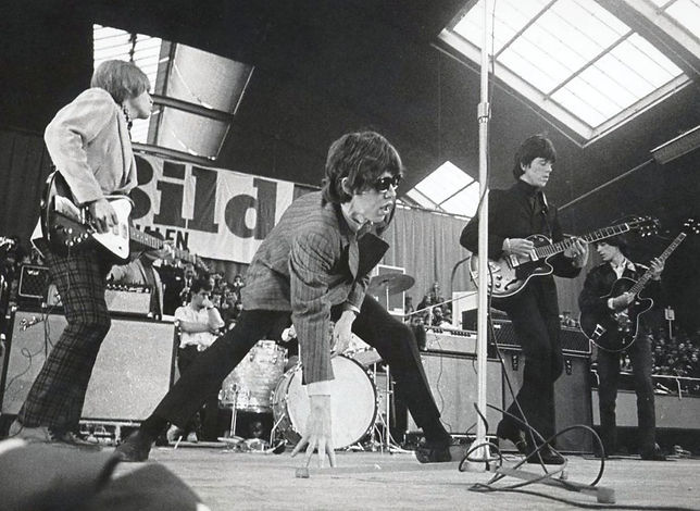 The Rolling Stones perform on stage in Sweden.