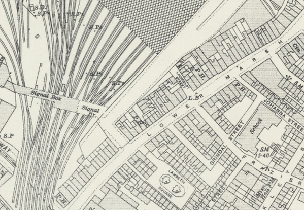 A map vew of London in 1915.