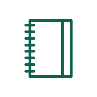 A icon of a contacts book.