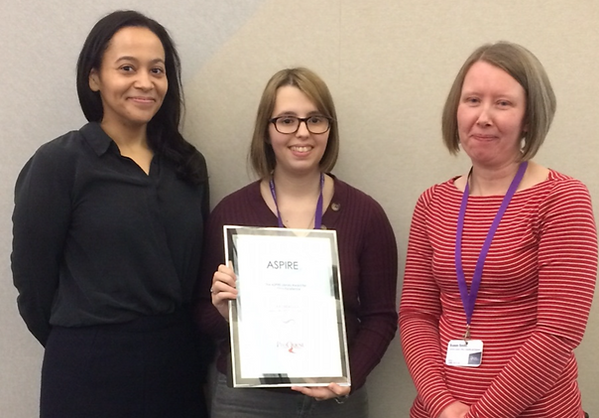 From left to right: Tash Edmonds (ProQuest), Kat Bradley and Sue Smith (both from Leeds Beckett University).