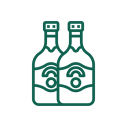 An icon of a pair of beer bottles.