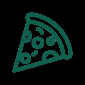 A slice of pizza icon.